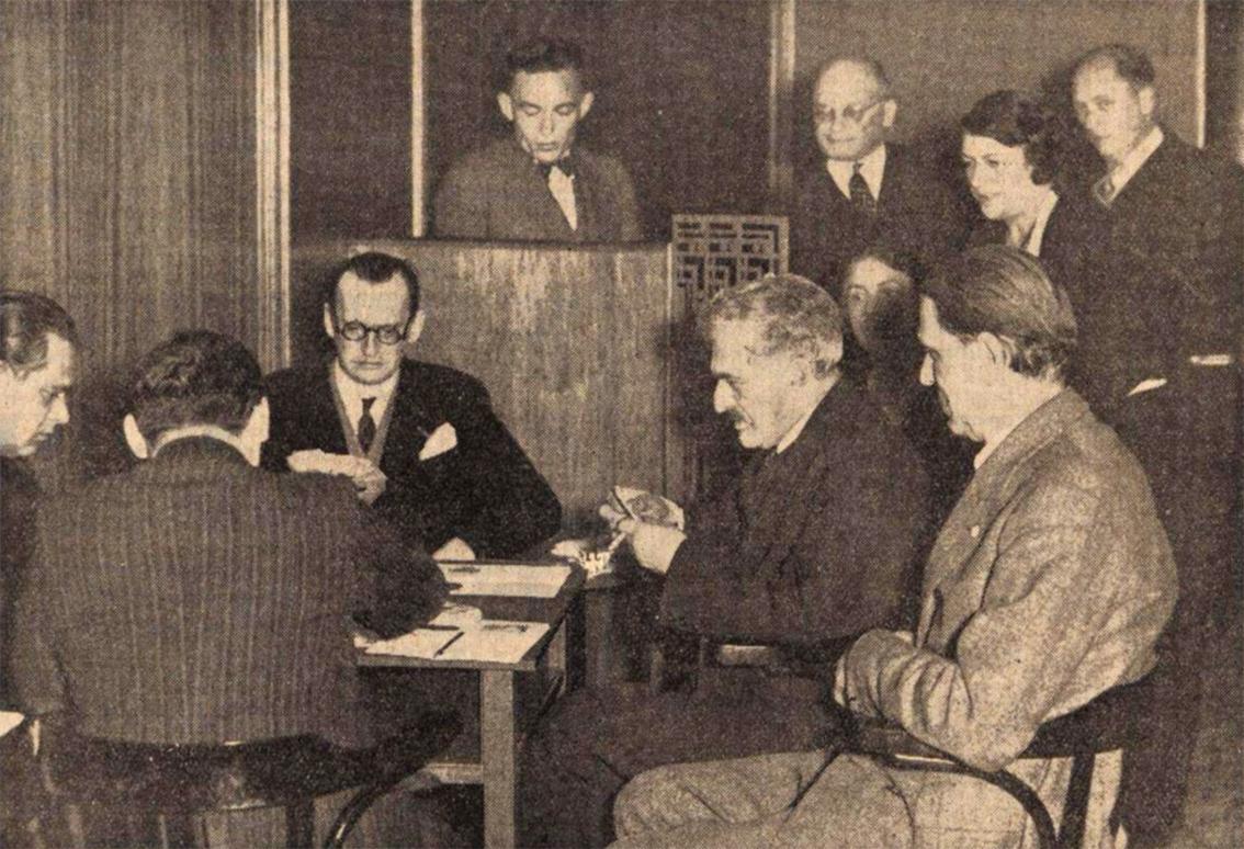 Alekhine Landau Lasker Tartakower Maroczy - Algemeen Handelsblad 1935-10-19